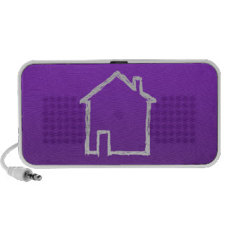 House Sketch. Gray and Purple. Portable Speakers