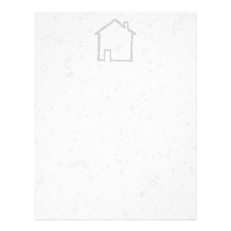 House Sketch. Gray. Personalized Flyer