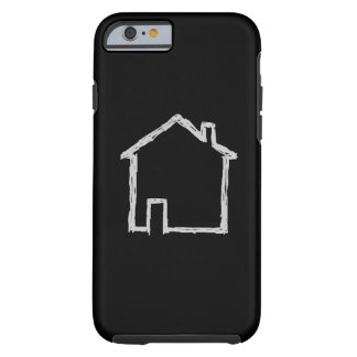 House Sketch. Grey and Black. Tough iPhone 6 Case