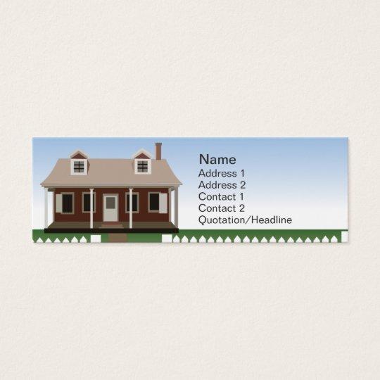 House - Skinny Mini Business Card