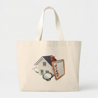 House Stethoscope and Survey Clipboard Concept Large Tote Bag