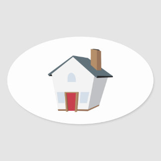 House Oval Stickers