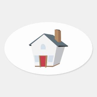 House Oval Sticker