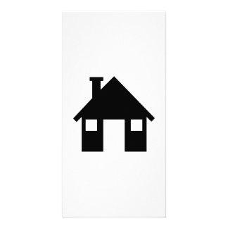 House symbol photo card