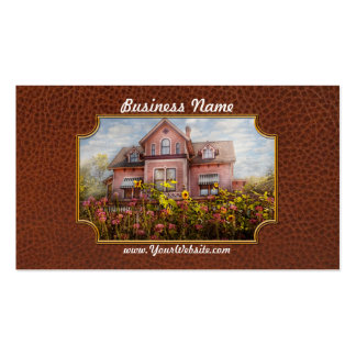 House - Victorian - Summer Cottage  Business Card Template