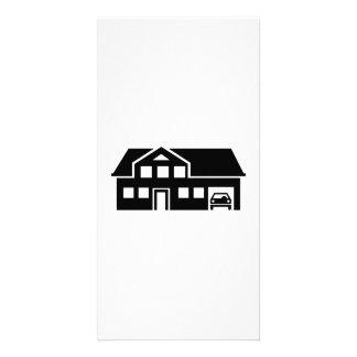 House villa car personalized photo card