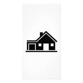 House villa garage picture card