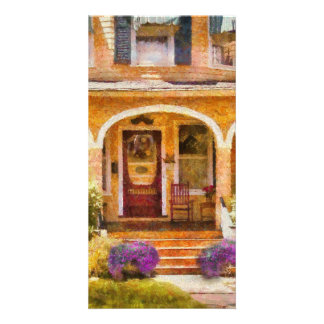 House - Visiting Grandma Personalized Photo Card