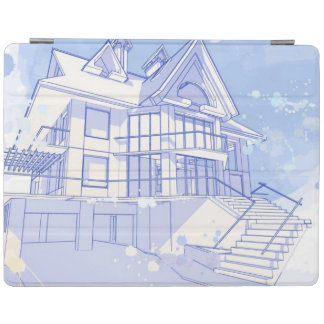 house: watercolor draw iPad cover
