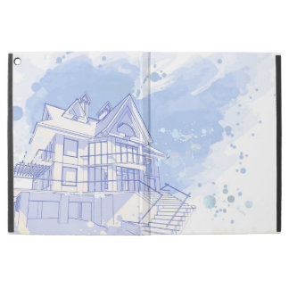 """house: watercolor draw iPad pro 12.9"""" case"""