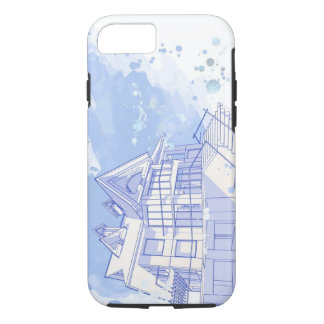 house: watercolor draw iPhone 8/7 case