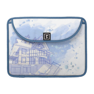 house: watercolor draw sleeve for MacBooks
