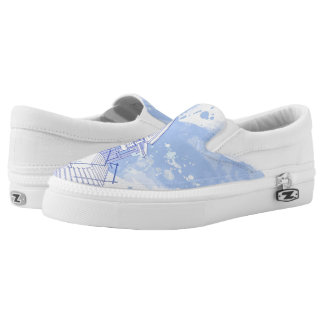 house: watercolor draw slip on shoes