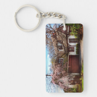 House - Westfield NJ - Who doesn't love spring Double-Sided Rectangular Acrylic Keychain