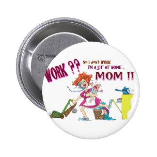 House Wife 6 Cm Round Badge