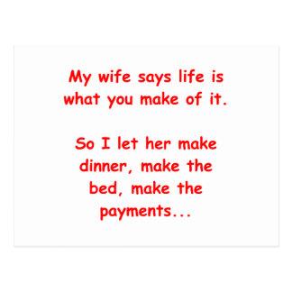 house wife postcard