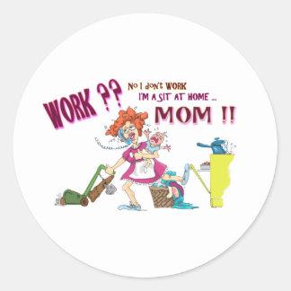 House Wife Round Sticker