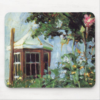 House with a Bay Window in the Garden Mouse Pad
