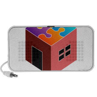 House with a puzzle roof notebook speaker