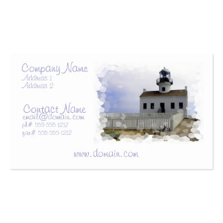 House with Lighthouse Business Card