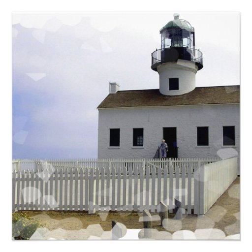 House with Lighthouse Invitations
