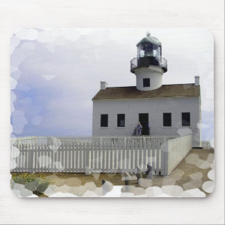 House with Lighthouse Mouse Pad