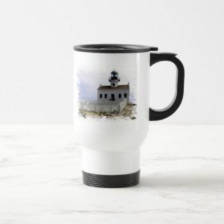 House with Lighthouse Travel Mug