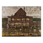 House with Shingle Roof by Egon Schiele Poster