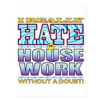 House Work Hate Face Postcard
