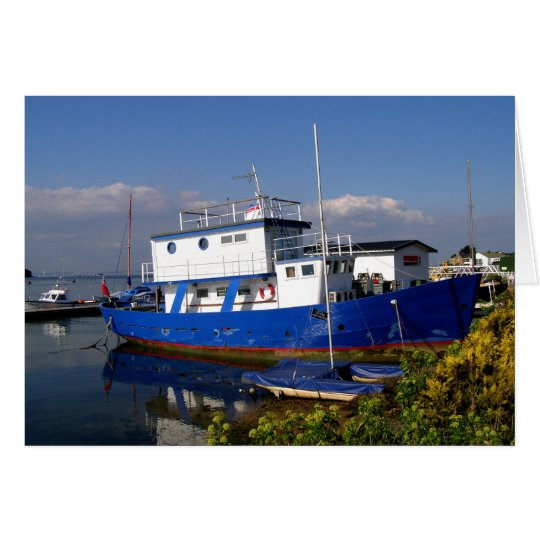 Houseboat in the Isle of Wight Card