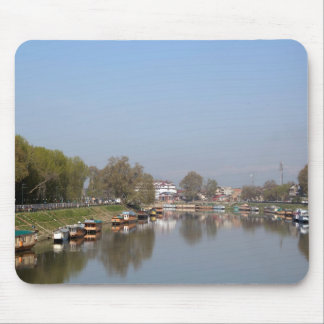 Houseboats on the shore of Dal Lake Mouse Pads