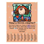 Housecleaning. House Cleaner. Custom promotional 21.5 Cm X 28 Cm Flyer
