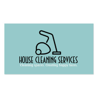 HouseCleaning Housekeeper Maid Pack Of Standard Business Cards