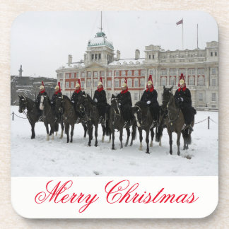 Household Cavalry in the snow Christmas coasters