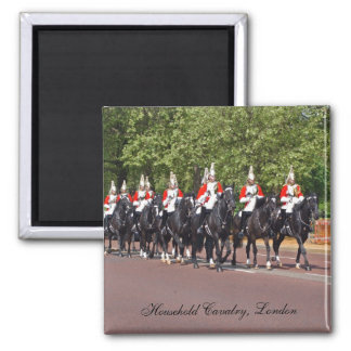 Household Cavalry London Square Magnet