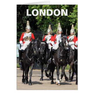 Household Cavalry mounted soldiers in London photo Stationery Note Card