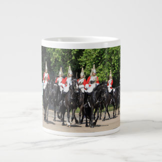Household Cavalry mounted soldiers in London photo Giant Coffee Mug