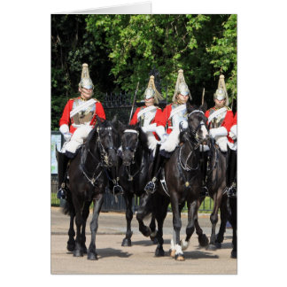 Household Cavalry mounted soldiers in London photo Note Card