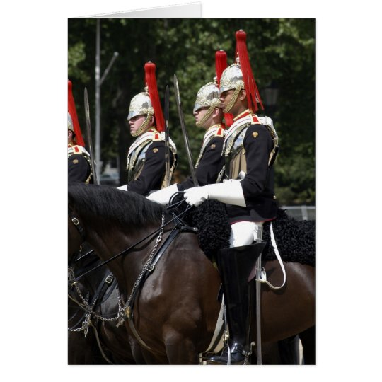 Household Cavalry Soldiers in London Card