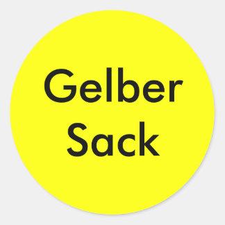 Household order yellow bag sticker