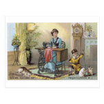 Household Sewing Machine Boy with Cats