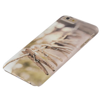 Household Themed, Vintage Line Up Wooden Clip Hang Barely There iPhone 6 Plus Case