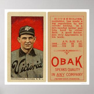 Householder Victoria Baseball 1911 Poster