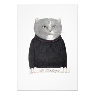 "Housekeeper Cat 5"" x 7"" Photo Print"