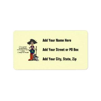 Housekeeper Humor Address Label
