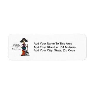 Housekeeper Humor Return Address Label