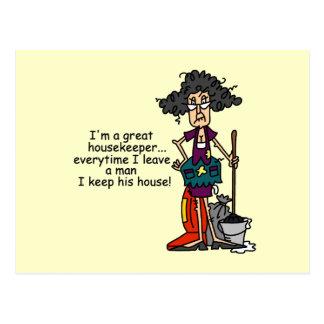 Housekeeper Humour Postcard
