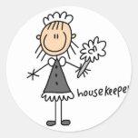 Housekeeper Stick Figure Sticker