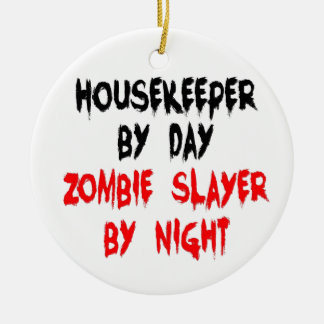 Housekeeper Zombie Joke Christmas Ornament