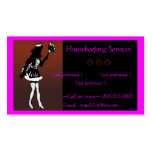 housekeeping/maid services business card